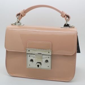 Steve Madden Evie Top Handle Patent Xbody, Blush